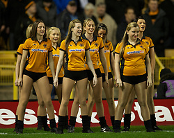 WOLVERHAMPTON, ENGLAND - Saturday, February 5, 2011: Wolverhampton Wanderers' cheerleaders before the Premiership match against Manchester United at Molineux. (Photo by David Rawcliffe/Propaganda)