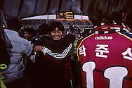 Football in south korea///Football en coree du sud//////final football league. in the new world cup stadium; Taejon against Pohang  Séoul  Korea   finale nationnale de football au nouveau stade de la coupe du monde finale de Corée. taejon contre Pohang  Séoul  coree  ///R20136/    L0006896  /  P105202///final football league. in the new world cup stadium; Taejon against Pohang  Séoul  Korea    ///  ///finale nationnale de football au nouveau stade de la coupe du monde finale de Corée. taejon contre Pohang  Séoul  coree  ///R20136/    L0006896  /  P105202