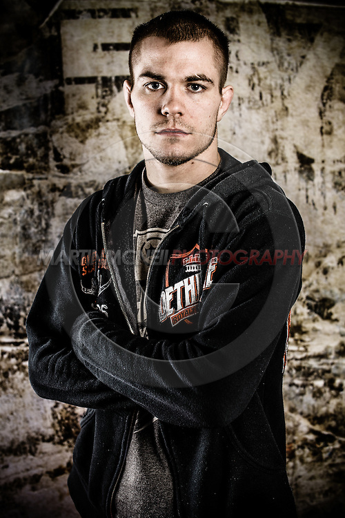 LONDON, ENGLAND, FEBRUARY 13, 2013: Michael McDonald poses for a portrait ahead of the pre-fight press conference for UFC on Fuel TV 7 inside London Shootfighters Gym in Park Royal, London, England on Wednesday, February 13, 2013 © Martin McNeil