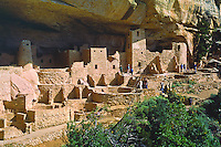 Cliff Palace.  Had 217 rooms, 23 kivas and housed about 250 Anasazi people.  Mesa Verde National Park, Colorado.