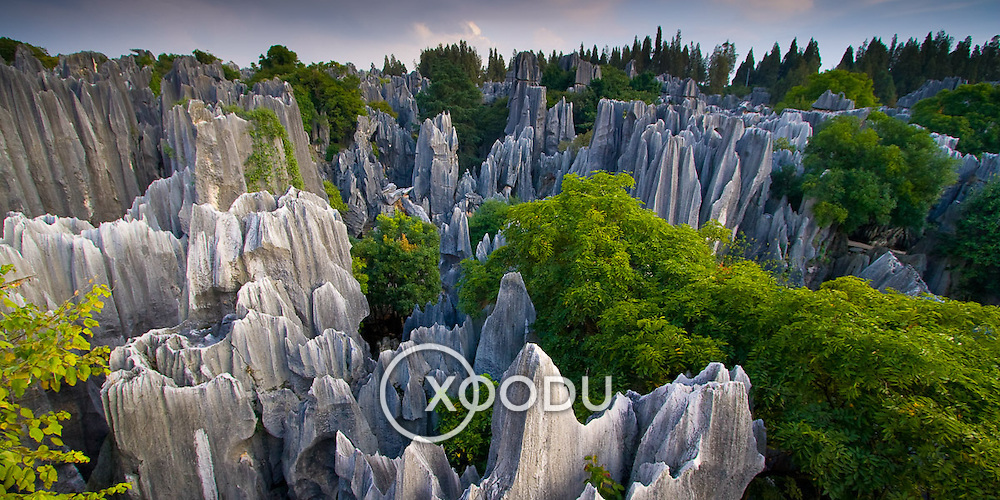 Shilin Stone Forest rock formations (Kunming, China - Oct. 2008) (Image ID: 081008-1813301a)