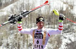 19.03.2017, Aspen, USA, FIS Weltcup Ski Alpin, Finale 2017, Slalom, Herren, Siegerehrung, im Bild Michael Matt (AUT, 3. Platz), // third placed Michael Matt of Austria during the winner award ceremony for the men's Slalom of 2017 FIS ski alpine world cup finals. Aspen, United Staates on 2017/03/19. EXPA Pictures © 2017, PhotoCredit: EXPA/ Erich Spiess