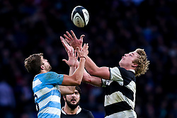 Pieter-Steph du Toit of Barbarians challenges Pablo Matera of Argentina - Mandatory by-line: Robbie Stephenson/JMP - 01/12/2018 - RUGBY - Twickenham Stadium - London, England - Barbarians v Argentina - Killick Cup