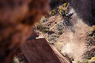 Carson Storch at Finals at Red Bull Rampage in Virgin, UT. © Brett Wilhelm