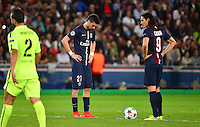 Deception Javier Pastore / Edinson Cavani - 15.04.2015 - Paris Saint Germain / Barcelone - 1/4Finale Aller Champions League<br />