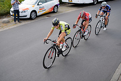 Chanella Stougje (Parkhotel Valkenburg) Chantal Hoffman (Lotto Soudal) and The Thorsen (Hitec Products) escape with less than 15km to go at the 116 km Stage 5 of the Boels Ladies Tour 2016 on 3rd September 2016 in Tiel, Netherlands. (Photo by Sean Robinson/Velofocus).