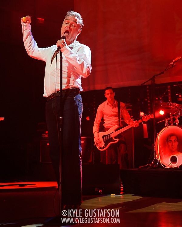 "BETHESDA, MD, DC - January 16th, 2013 - British music legend Morrissey performs at the Strathmore Music Hall with Solomon Walker. His set included solo hits like ""Everyday Is Sunday"" as well as material from The Smiths, such as ""Still Ill.""( Photo by Kyle Gustafson/For The Washington Post)"