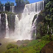 Mighty Igwazu Falls (Cascadas Igwazu) in Brazil.
