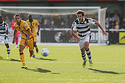 Forest Green Rovers Darren Carter(12) runs forward during the The FA Cup 4th qualifying round match between Sutton United and Forest Green Rovers at Gander Green Lane, Sutton, United Kingdom on 15 October 2016. Photo by Shane Healey.