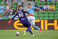 MELBOURNE, VIC - JANUARY 22: Melbourne City defender Ritchie de Laet (2) scores a goal  at the Hyundai A-League Round 15 soccer match between Melbourne City FC and Western Sydney Wanderers at AAMI Park in VIC, Australia 22 January 2019. Image by (Speed Media/Icon Sportswire)