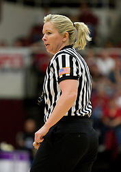 March 20, 2010; Stanford, CA, USA; NCAA referee Marianne Karp during the first half of the game between the Stanford Cardinal  and the UC Riverside Highlanders in the first round of the 2010 NCAA womens basketball tournament at Maples Pavilion. Stanford defeated UC Riverside 79-47.