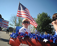 Barrett Robinson rides in the First Baptist Church Weekday Education's annual 4th of July Parade in Oxford, Miss. on Friday, July 2, 2010.
