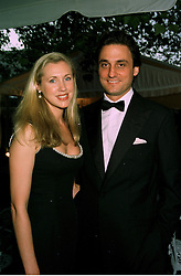 MISS CATRINA SKEPPER and her fiance COUNT ALLESANDRO GUERRINI-MARALDI, at a reception in London on 7th June 1997.LZA 121