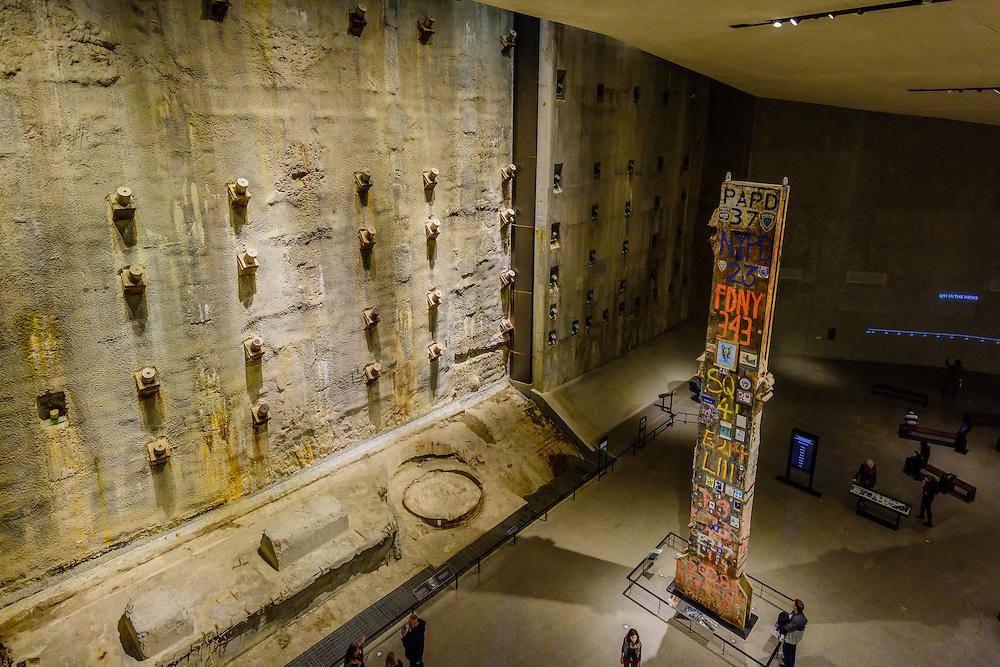 9/11 Memorial Museum,  Museum designed by Davis Brody Bond, or DBB, is the lead architect of the below ground Memorial Museum, Manhattan, New York City, New York