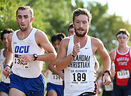 September 5, 2015: The Oklahoma Christian University Eagles men's cross country team participates in the UCO Land Run at Santa Fe High School in Edmond, OK.