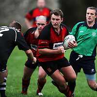 Liam Wolfe in action during the Ennis V Cobh Rugby match in Ennis on Saturday .<br /> Photograph by Eamon Ward