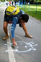 03.07.2011, Ironman Austria, Klagenfurt, Kaernten, im Bild Fan, EXPA Pictures © 2011, PhotoCredit: EXPA/ M. Kuhnke