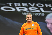Forest Green Legends goalkeeper Steve Perrin  during the Trevor Horsley Memorial Match held at the New Lawn, Forest Green, United Kingdom on 19 May 2019.