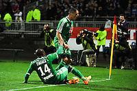 Joie Romain HAMOUNA - 19.04.2015 - Lyon / Saint Etienne - 33eme journee de Ligue 1<br />Photo : Jean Paul Thomas / Icon Sport