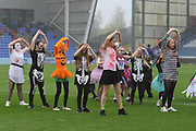 Entertainment before the EFL Sky Bet League 1 match between Oldham Athletic and Scunthorpe United at Boundary Park, Oldham, England on 28 October 2017. Photo by George Franks.