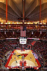 03 December 2016:  Redbird Arena interir during an NCAA  mens basketball game between the New Mexico Lobos the Illinois State Redbirds in a non-conference game at Redbird Arena, Normal IL