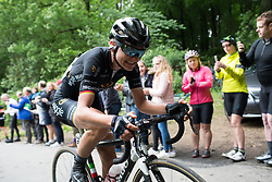 Claudia Lichtenberg (GER) of Wiggle Hi5 Cycling Team rides up on Ault Hucknall Lane during Stage 4 of the OVO Energy Women's Tour - a 123 km road race, starting and finishing in Chesterfield on June 10, 2017, in Derbyshire, United Kingdom. (Photo by Balint Hamvas/Velofocus.com)