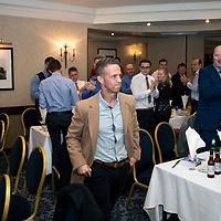Chris Millar Testimonial Boxing Night at The Salutation Hotel, Perth..15.09.18<br />Chris Millar is applauded into the room by the guests<br />Picture by Graeme Hart.<br />Copyright Perthshire Picture Agency<br />Tel: 01738 623350  Mobile: 07990 594431