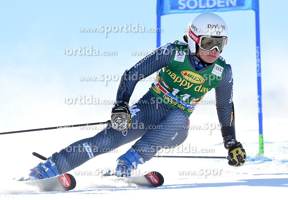 22.10.2016, Rettenbachferner, Soelden, AUT, FIS Weltcup Ski Alpin, Soelden, Riesenslalom, Damen, 1. Durchgang, im Bild Irene Curtoni of Italy // in action during 1st run of ladies Giant Slalom of the FIS Ski Alpine Worldcup opening at the Rettenbachferner in Soelden, Austria on 2016/10/22. EXPA Pictures © 2016, PhotoCredit: EXPA/ Erich Spiess