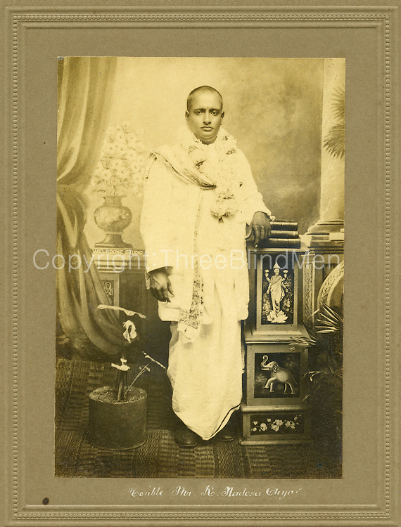 The Honourable Mr. K. Nadesan Aiyar. <br />Picture by Well Done Studio.<br />Mr. Shadagopan Collection.