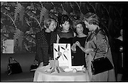"""Innoxa Reception At The Gresham Hotel..1963..02.10.1963..10.02.1963..2nd October 1963..At the Gresham Hotel, O'Connell Street, Dublin, Innoxa launched a new beauty range. The range,""""Living Peach"""", was introduced to members of the trade by Mr Bernard Mc Flynn,General Manager of Innoxa (England) Ltd...Image shows Ms Liesel Anders, Area Consultant, Dublin, Ms Helen Larkin, Permanent Consultant, Bolgers Stores, Dublin,  Ms Mildred Harnett, Permanent Consultant, Switzers, Dublin and Ms Eileen O'Boyle, Provincial Consultant at the launch of """"Living Peach"""" the new Innoxa beauty range."""