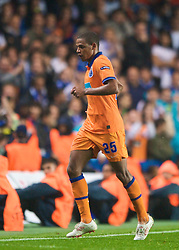 LONDON, ENGLAND - TUESDAY, SEPTEMBER 15th, 2009: Porto's Fernando leaves the field after being sent-off during the UEFA Champions League Group D match at Stamford Bridge. (Photo by Chris Brunskill/Propaganda)
