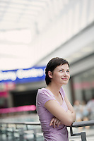 Young woman in shopping centre Voronezh