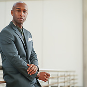PUERTO RICO -- JANUARY  10, 2018: Actor Donald Webber Jr, who plays Aaron Burr on the musical Hamilton, photographed in the Museo de Arte de Puerto Rico, in Santurce,  on January 10, 2018. <br /> (Angel Valentin / For The Times)