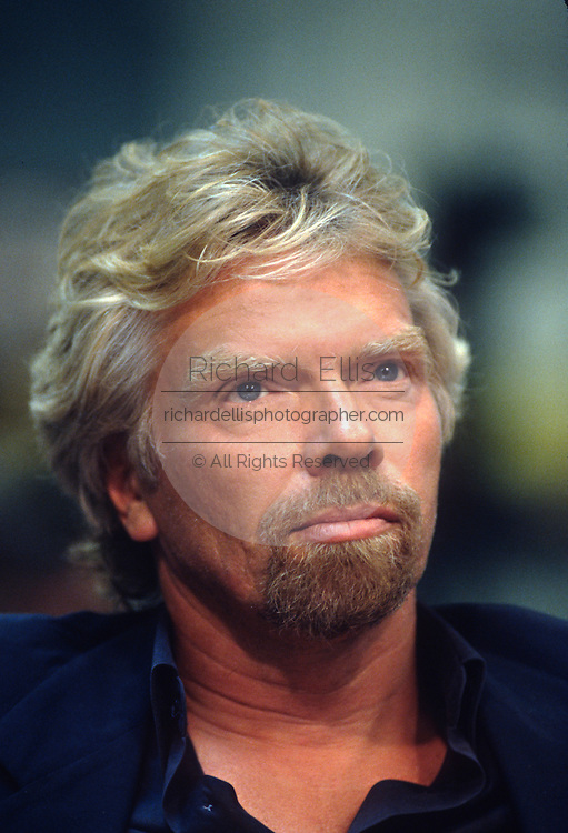 Billionaire founder of the Virgin Group Richard Branson testifies in Congress on trans-Atlantic airline flights June 4, 1997 in Washington, DC.
