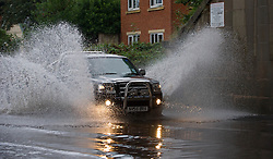 © Licensed to London News Pictures. 23/08/2013<br /> <br /> Saltburn, Cleveland, England, UK<br /> <br /> Thunder storms bring flash flooding under a bridge on the A174 road in Saltburn, Cleveland.<br /> <br /> Photo credit : Ian Forsyth/LNP