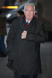 © Licensed to London News Pictures. 19/12/2016. London, UK. Sir Craig Reedie, President, World Anti-Doping Agency, arrives at Parliament to appear before the Culture, Media and Sport Select Committee taking evidence on combatting doping in sport. Photo credit: Peter Macdiarmid/LNP