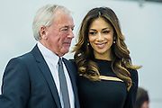 The Sunseeker stand includes Nicole Scherzinger (picturerd) launching the new Predator 57 with the Sunseeker Founder, Robert Braithwaite (pictured). The CWM FX London Boat Show, taking place 09-18 January 2015 at the ExCel Centre, Docklands, London. 09 Jan 2015.
