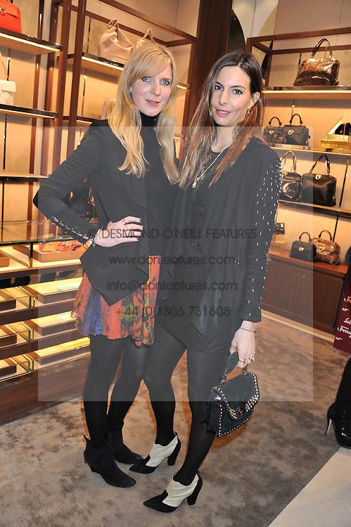 Left to right, DANIELA FELDER and ZARA SIMON at the Salvatore Ferragamo Old Bond Street Boutique Store Launch on 5th December 2012.