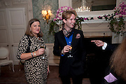 GEORGINA MARTEN; CHRISTOPHER PORTET, The Dowager Duchess od Devonshire and Catherine Ostler editor of the Tatler host a party to celebrate Penguin's reissue of Nancy Mitford's ' Wigs on the Green.'  The French Salon. Claridge's. London. 10 March 2010.