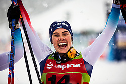 Laurien Van Der Graaf (SUI) celebrating 3th place after Ladies team sprint race at FIS Cross Country World Cup Planica 2019, on December 22, 2019 at Planica, Slovenia. Photo By Peter Podobnik / Sportida