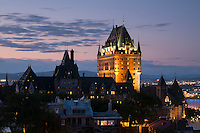 Fairmont Le Chateau Frontenac at Dusk, Quebec City, Canada