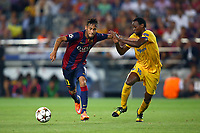 Neymar Jr of FC Barcelona evades Vinicius of Apoel FC during the UEFA Champions League, Group F, football match between FC Barcelona and Apoel FC on September 17, 2014 at Camp Nou stadium in Barcelona, Spain. Photo Manuel Blondeau / AOP.Press / DPPI