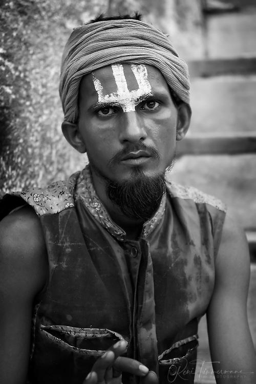 Portrait of indian man in rajashan