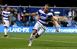 Conor Washington of Queens Park Rangers celebrates scoring his sides second goal against Swindon Town - Mandatory by-line: Robbie Stephenson/JMP - 10/08/2016 - FOOTBALL - Loftus Road - London, England - Queens Park Rangers v Swindon Town - EFL League Cup