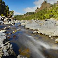 Alberto Carrera, Taburiente River and Walls towers, Caldera de Taburiente National Park, Biosphere Reserve, ZEPA, LIC, La Palma, Canary Islands, Spain, Europe