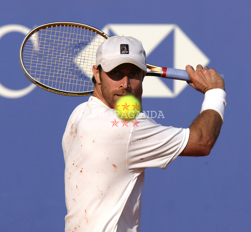 MONTE-CARLO, MONACO - Wednesday, April 16, 2003: Felix Mantilla (Spain) in action during the 2nd Round of the Tennis Masters Monte-Carlo. (Pic by David Rawcliffe/Propaganda)