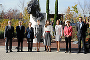 MADRID; SPAIN; 2015; NOVEMBER 20 Queen Letizia with Queen Rania of Jordan during the workshop at the Center for Molecular Biology Severo Ochoa; which took place in Cantoblanco Campus of the Autonomous University of Madrid<br /> ©Exclusivepix Media