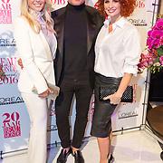 NLD/Amsterdam/20160118 -  Beau Monde Awards 2016, Chantal Janzen, Leco van Zadelhof en Leontine Borsato