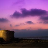 Where: Rabat, Morocco. Lighthouse at dusk.