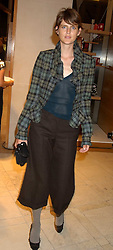 """Model STELLA TENNANT at a party hosted by Christopher Bailey to celebrate the launch of """"The Snippy World of New Yorker Fashion Artist Michael Roberts"""" held at Burberry, 21-23 New Bond Street, London on 20th September 2005.<br /><br />NON EXCLUSIVE - WORLD RIGHTS"""